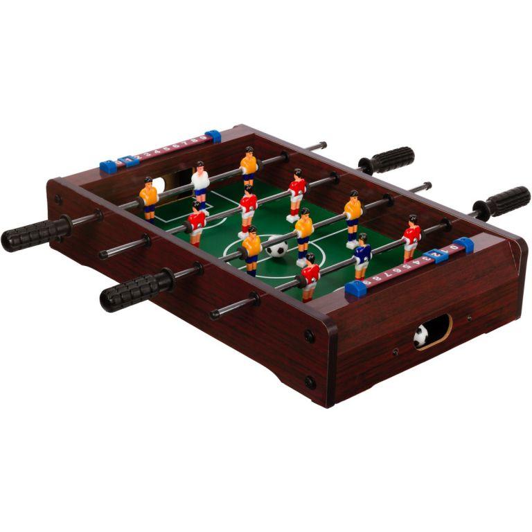 1d5faf52c Mini stolný futbal KICKER pre 2 osoby- hnedý