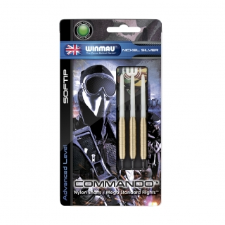 Set šípky Winmau COMMANDO 18g soft Nickel