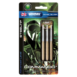 Set šípky Winmau COMMANDO 24g steel Nickel
