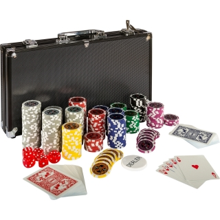 Poker set kufrík Ultimate 300 ks black