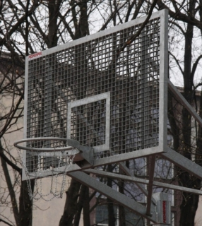 Basketbalový set Outdoor Steel 105x180
